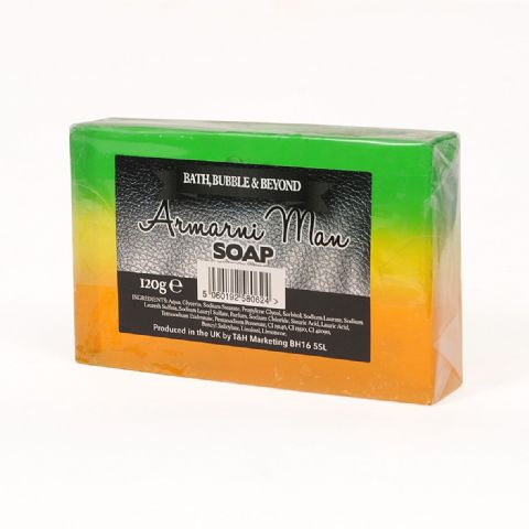 Armarni Man Glycerin Soap Slice - Bath Bubble & Beyond 120g